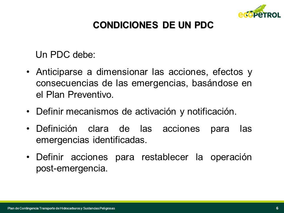 Definir mecanismos de activación y notificación.