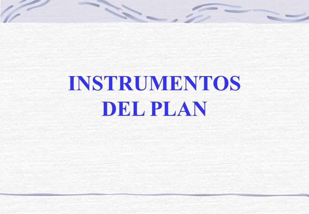 INSTRUMENTOS DEL PLAN