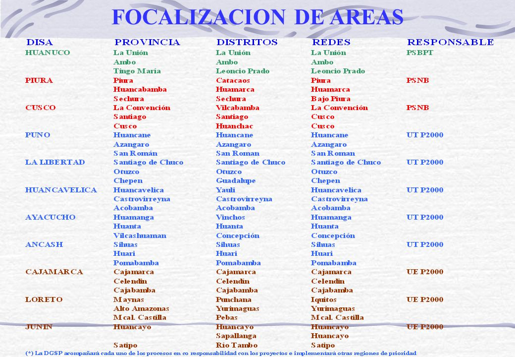 FOCALIZACION DE AREAS