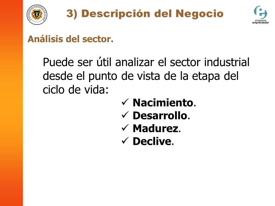 3) Descripción del Negocio