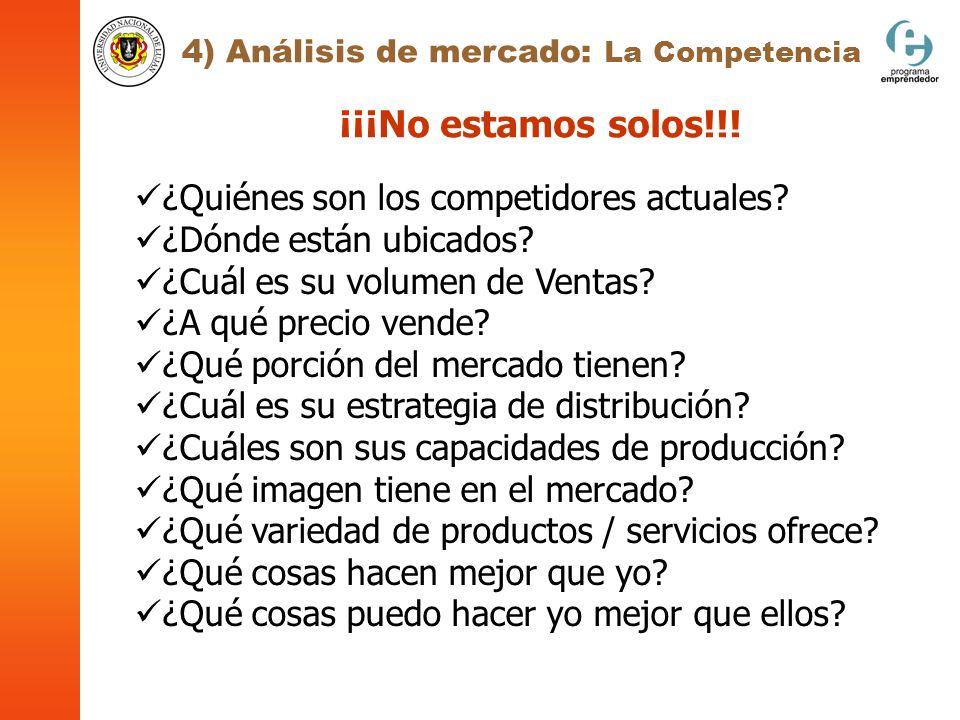 4) Análisis de mercado: La Competencia