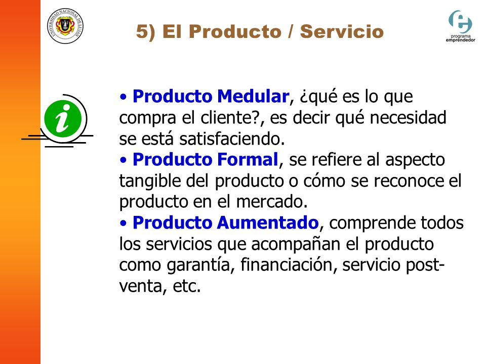 5) El Producto / Servicio