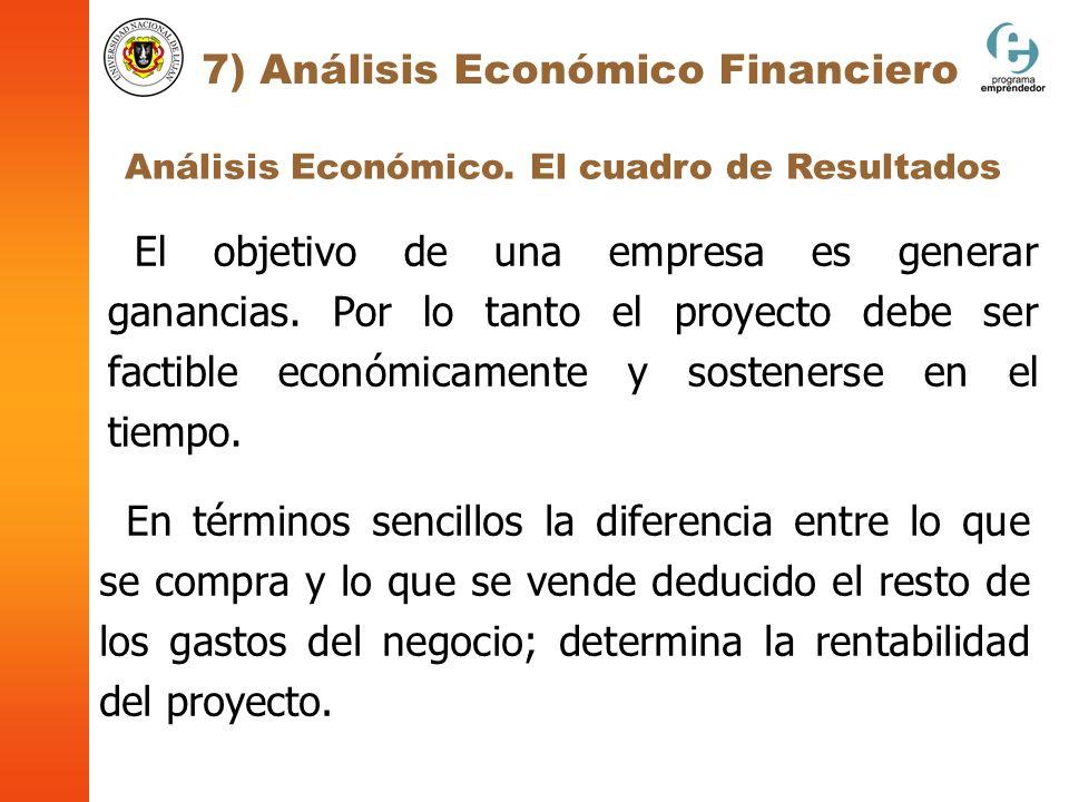 7) Análisis Económico Financiero