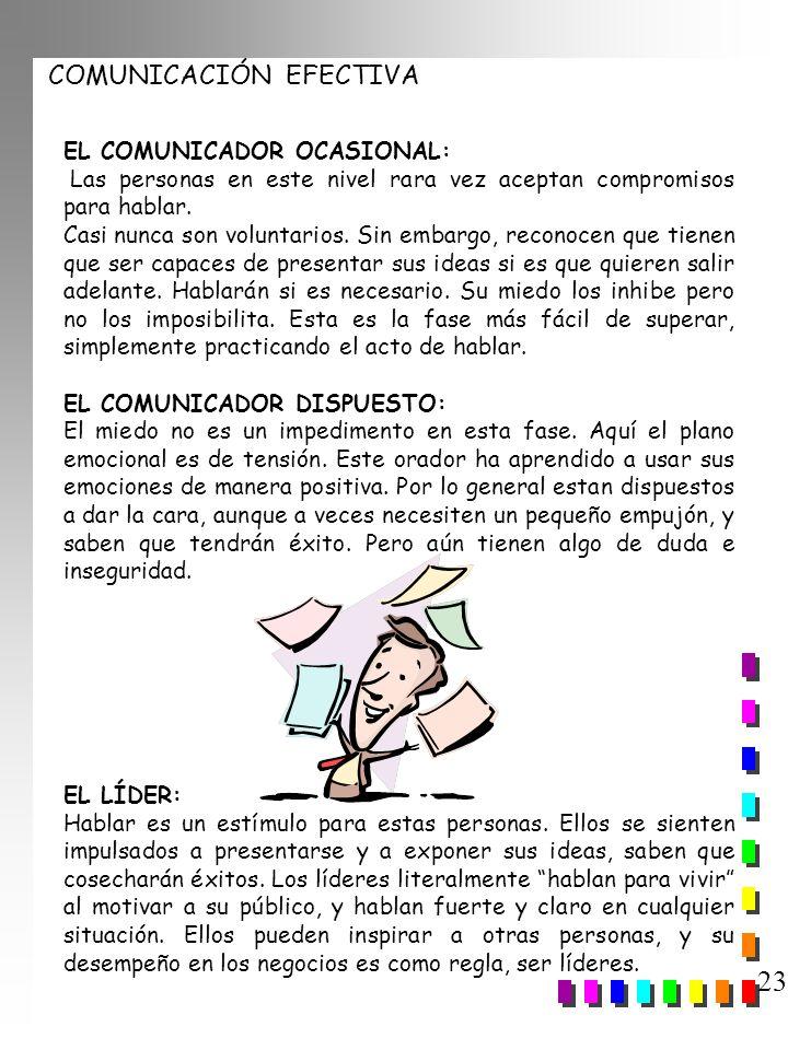 23 EL COMUNICADOR OCASIONAL: