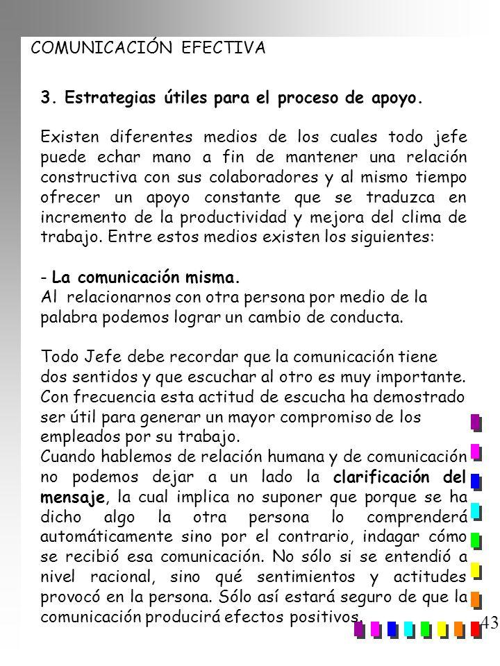 43 3. Estrategias útiles para el proceso de apoyo.