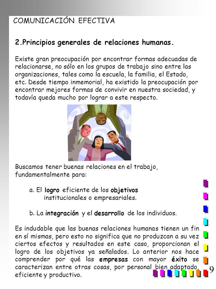 9 2.Principios generales de relaciones humanas.