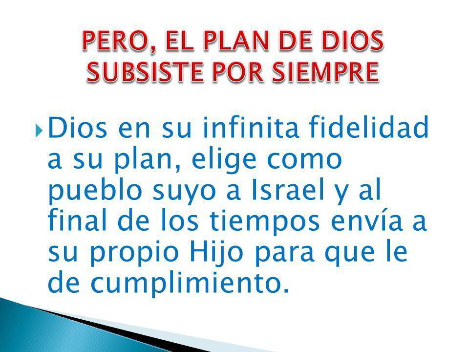 PERO, EL PLAN DE DIOS SUBSISTE POR SIEMPRE