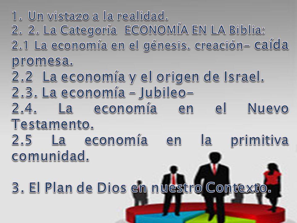 2.2 La economía y el origen de Israel. 2.3. La economía – Jubileo-