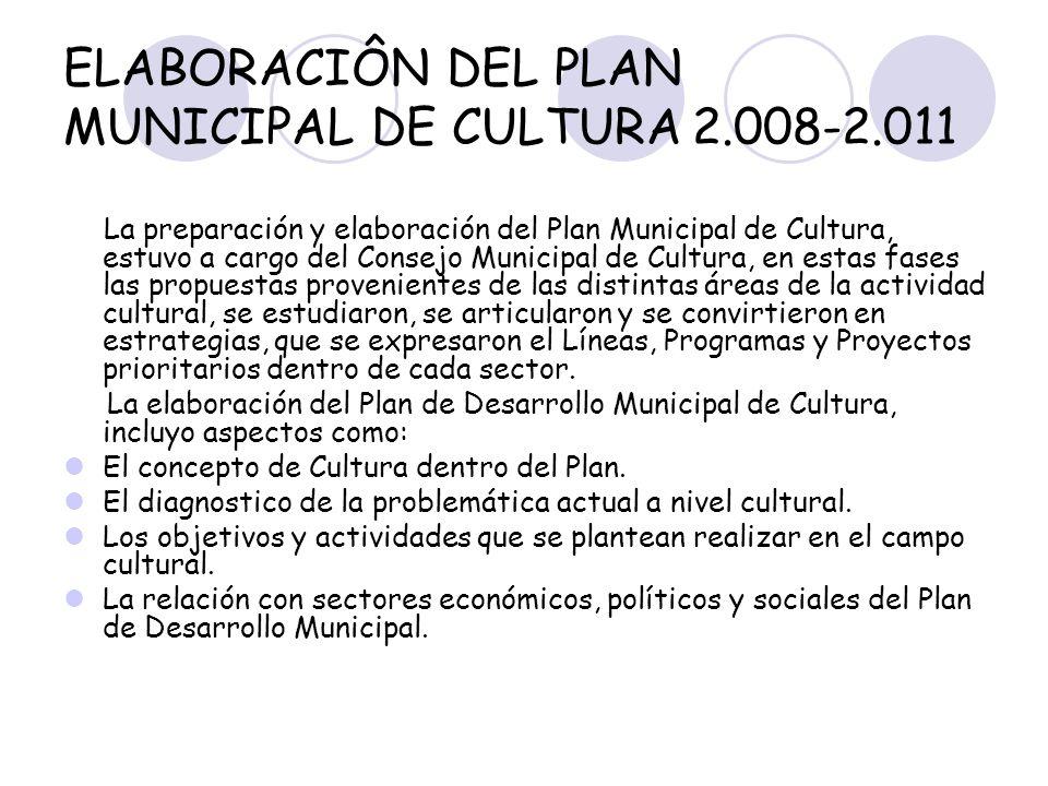 ELABORACIÔN DEL PLAN MUNICIPAL DE CULTURA 2.008-2.011