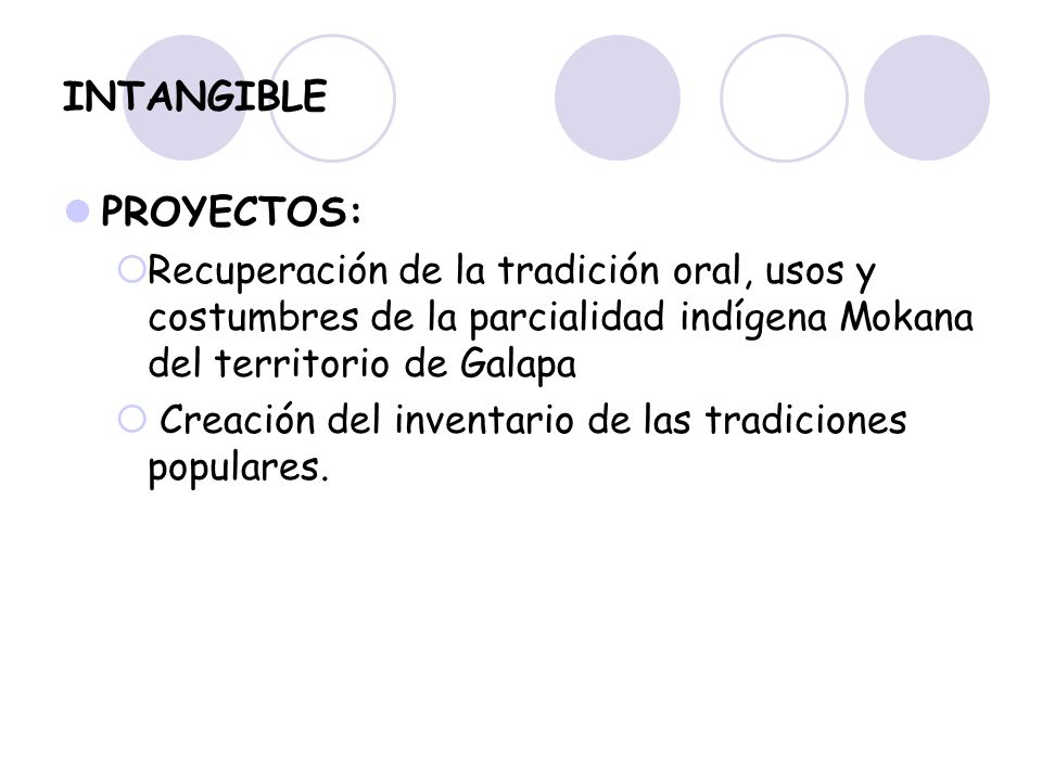 INTANGIBLE PROYECTOS: