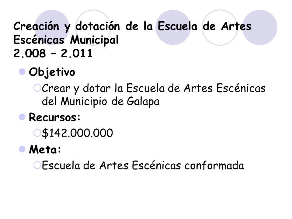 Creación y dotación de la Escuela de Artes Escénicas Municipal 2