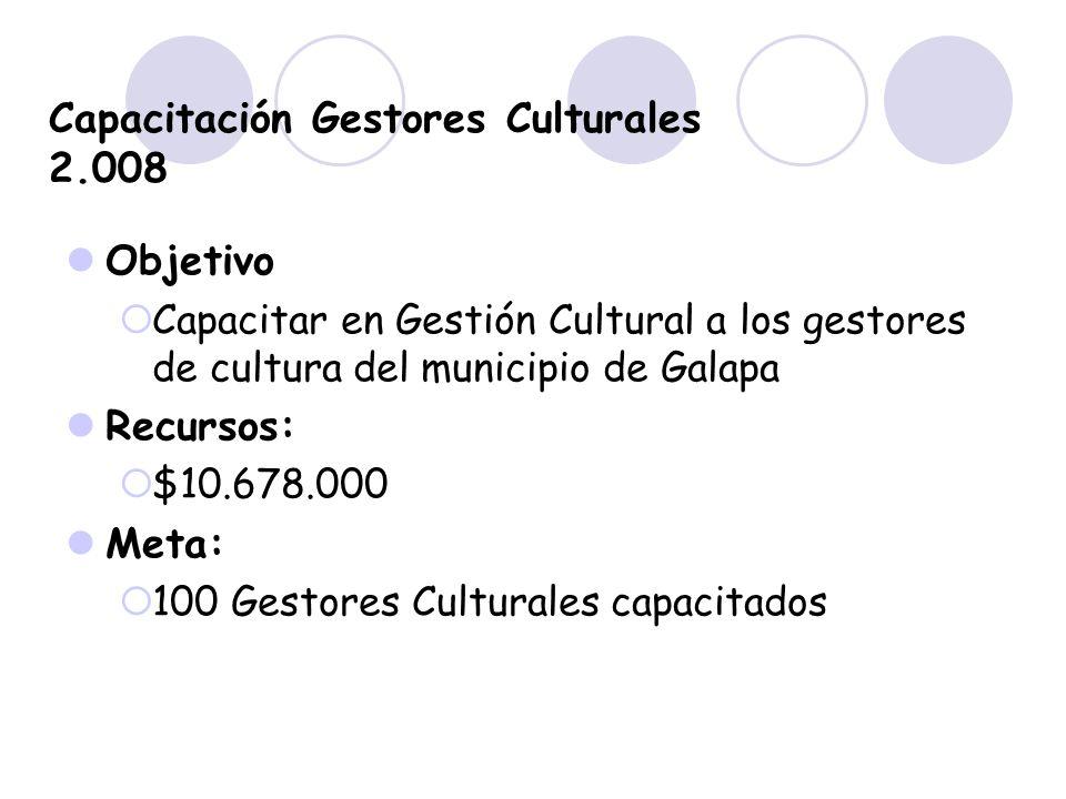 Capacitación Gestores Culturales 2.008