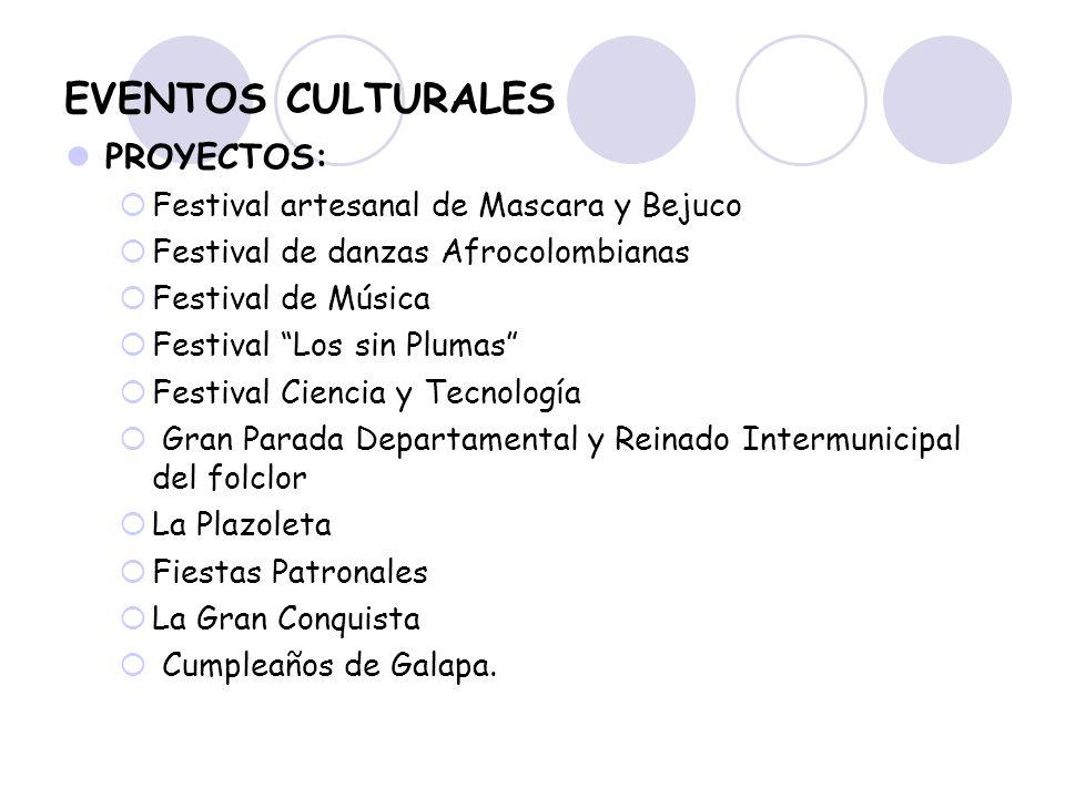EVENTOS CULTURALES PROYECTOS: Festival artesanal de Mascara y Bejuco