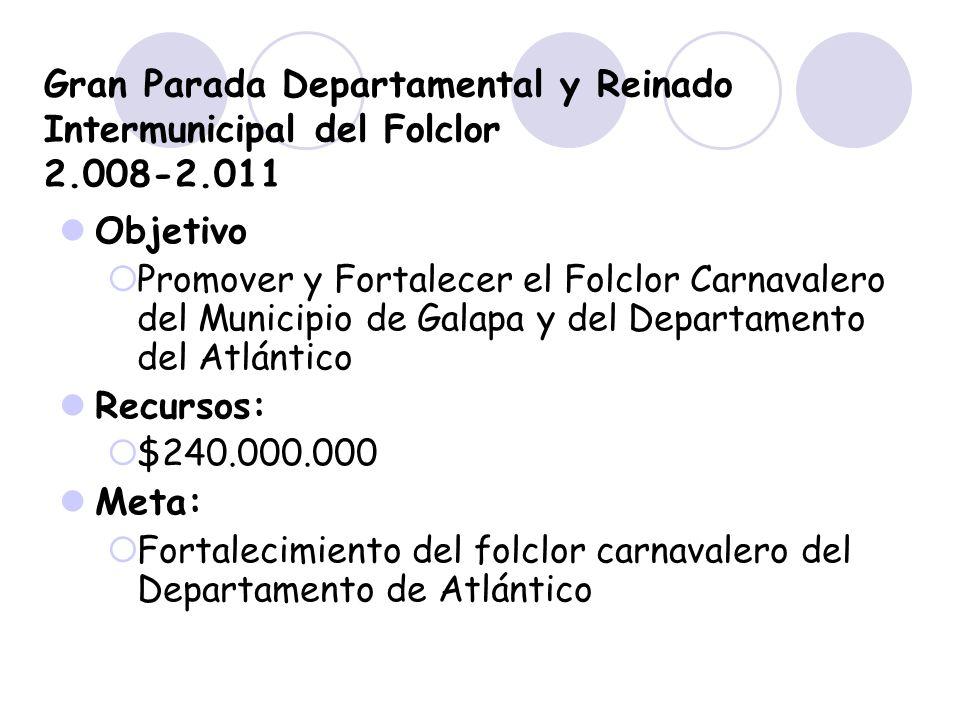 Gran Parada Departamental y Reinado Intermunicipal del Folclor 2.008-2.011
