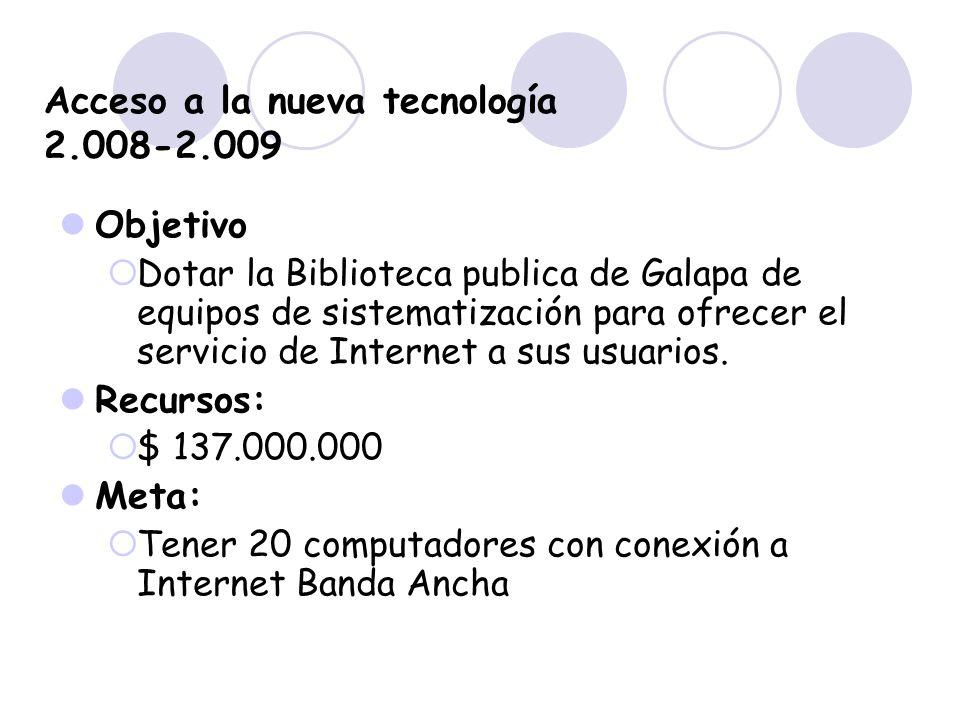 Acceso a la nueva tecnología 2.008-2.009