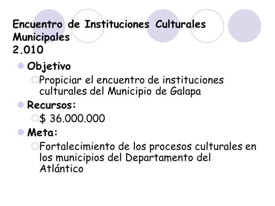 Encuentro de Instituciones Culturales Municipales 2.010