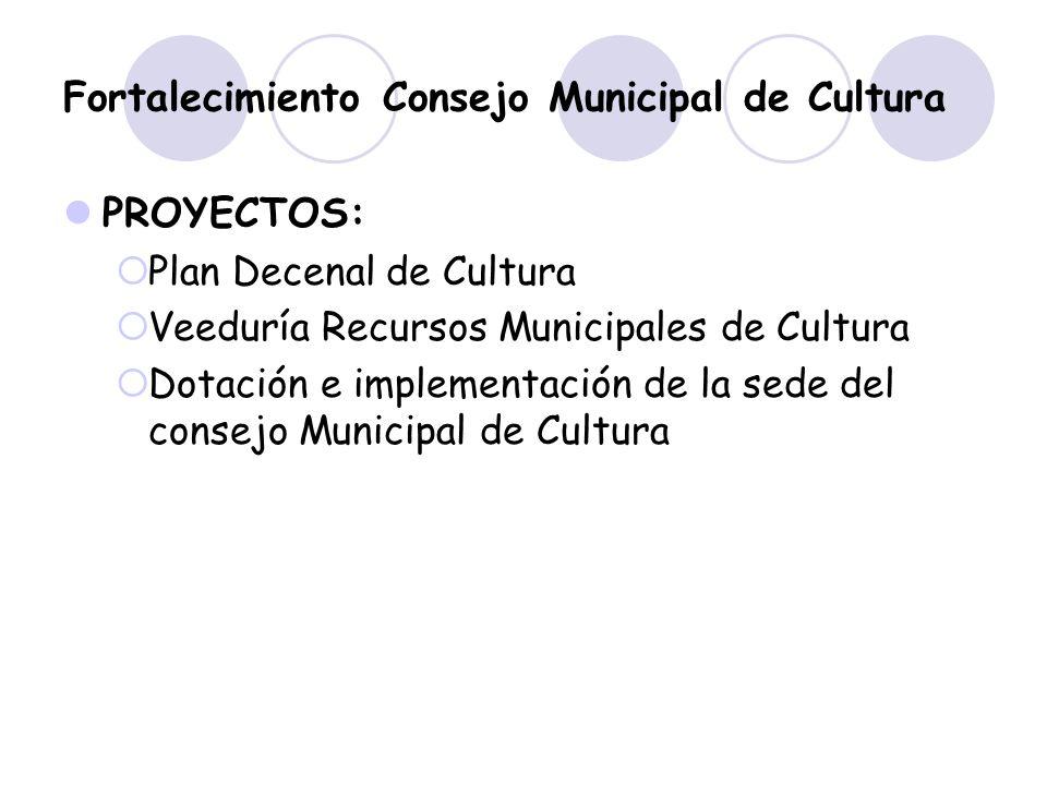 Fortalecimiento Consejo Municipal de Cultura
