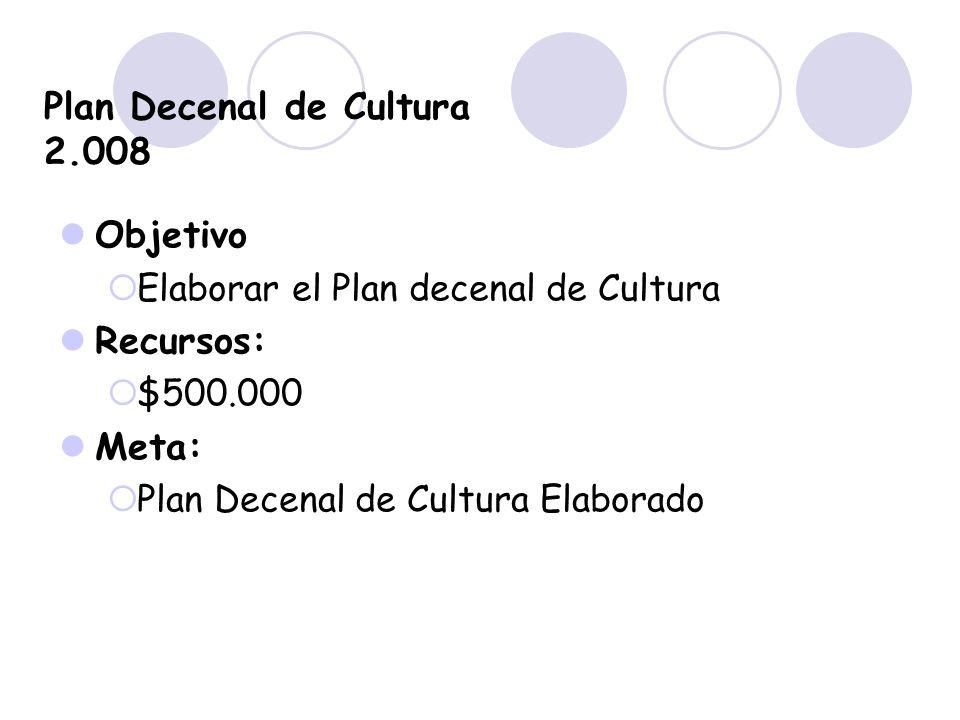 Plan Decenal de Cultura 2.008