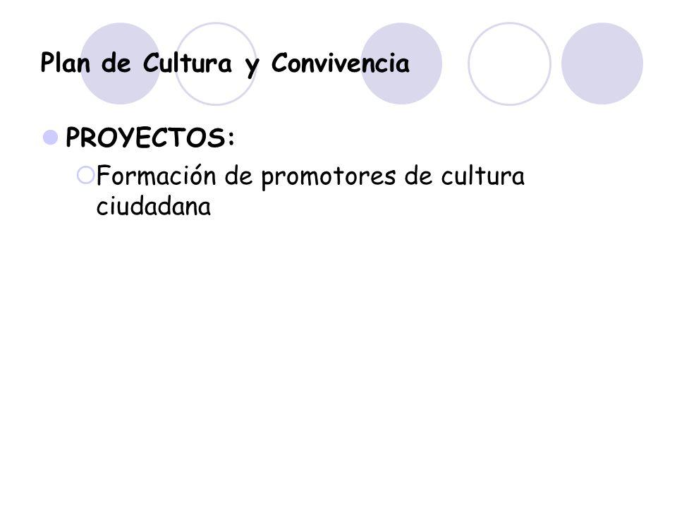 Plan de Cultura y Convivencia