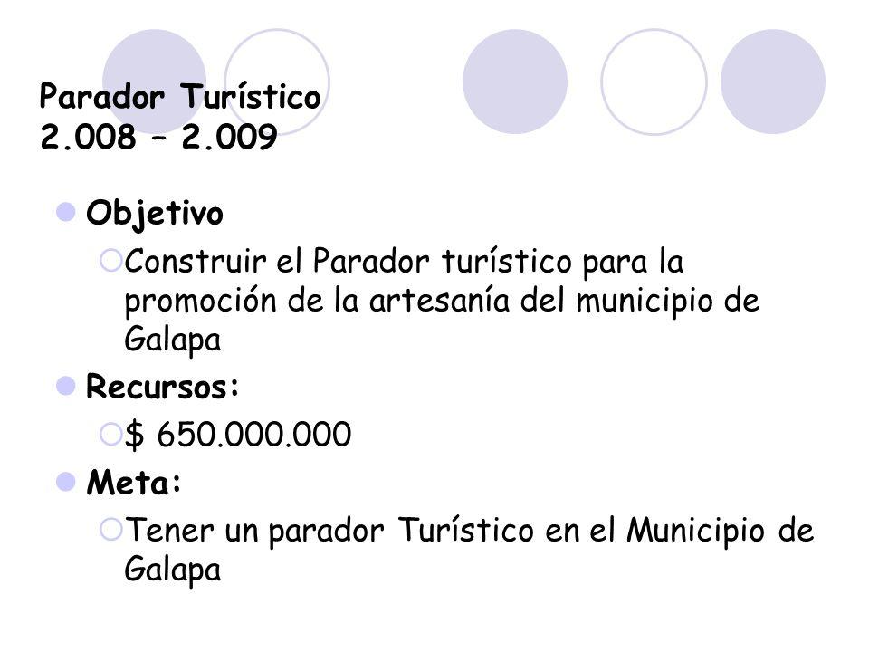 Parador Turístico 2.008 – 2.009 Objetivo Recursos: Meta:
