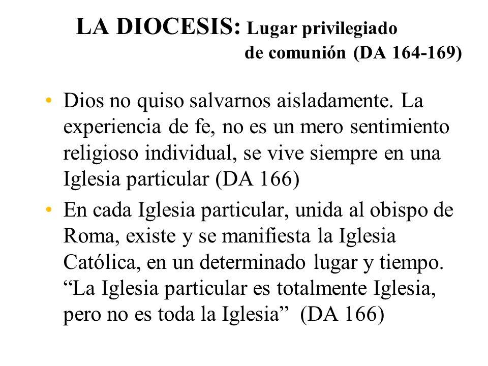 LA DIOCESIS: Lugar privilegiado de comunión (DA 164-169)