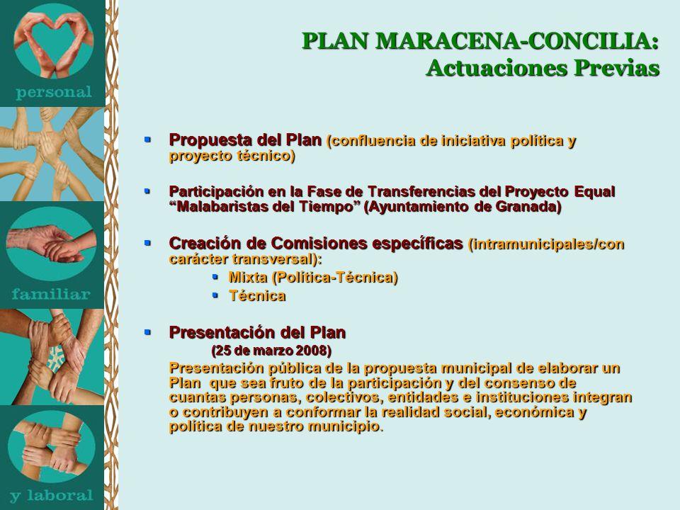 PLAN MARACENA-CONCILIA: Actuaciones Previas