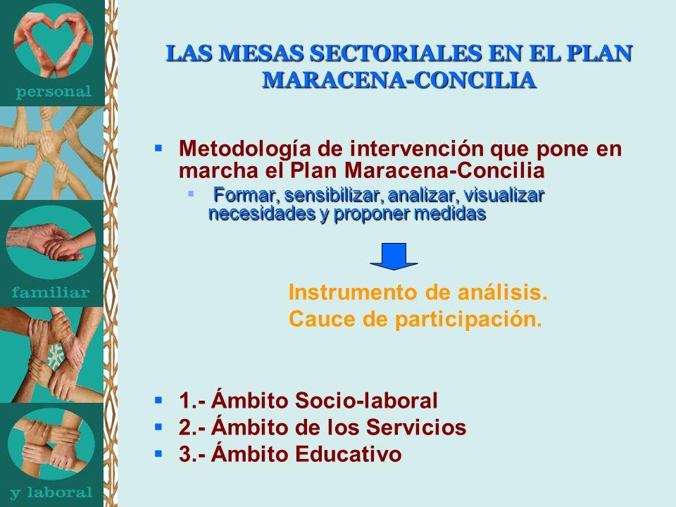 LAS MESAS SECTORIALES EN EL PLAN MARACENA-CONCILIA