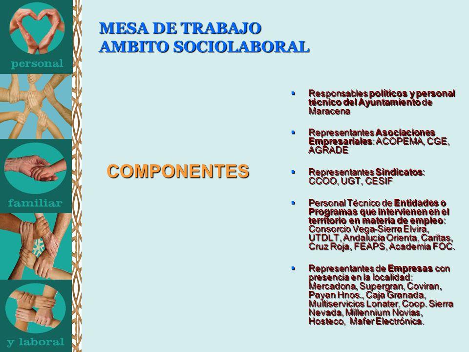 MESA DE TRABAJO AMBITO SOCIOLABORAL