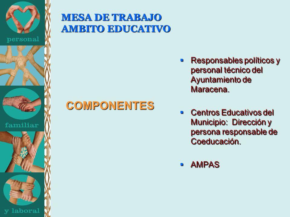 MESA DE TRABAJO AMBITO EDUCATIVO