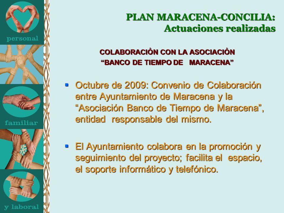 PLAN MARACENA-CONCILIA: Actuaciones realizadas