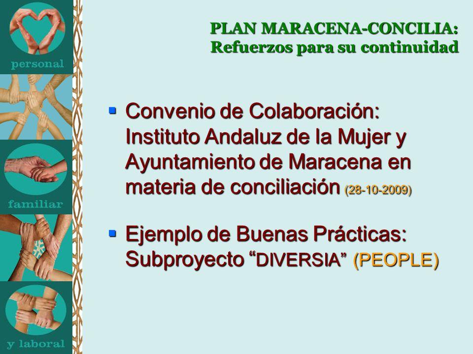 PLAN MARACENA-CONCILIA: Refuerzos para su continuidad