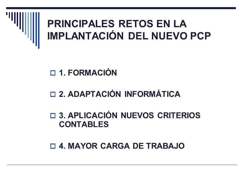 PRINCIPALES RETOS EN LA IMPLANTACIÓN DEL NUEVO PCP