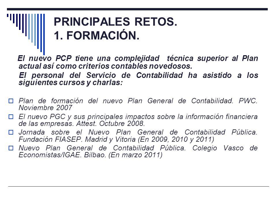 PRINCIPALES RETOS. 1. FORMACIÓN.