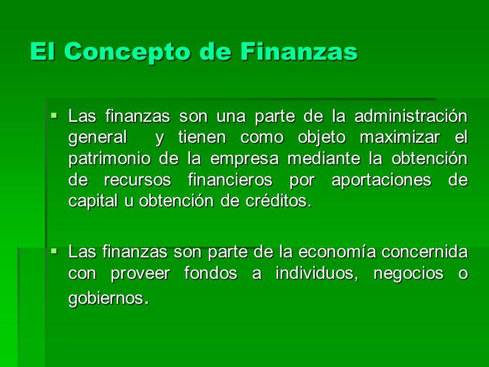 El Concepto de Finanzas