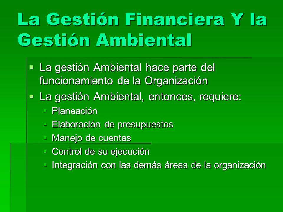 La Gestión Financiera Y la Gestión Ambiental