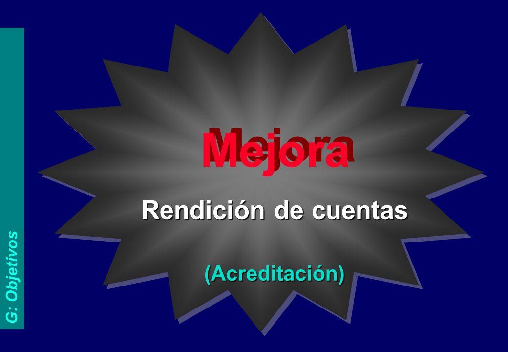 EL EJE PRINCIPAL METAS G: Objetivos