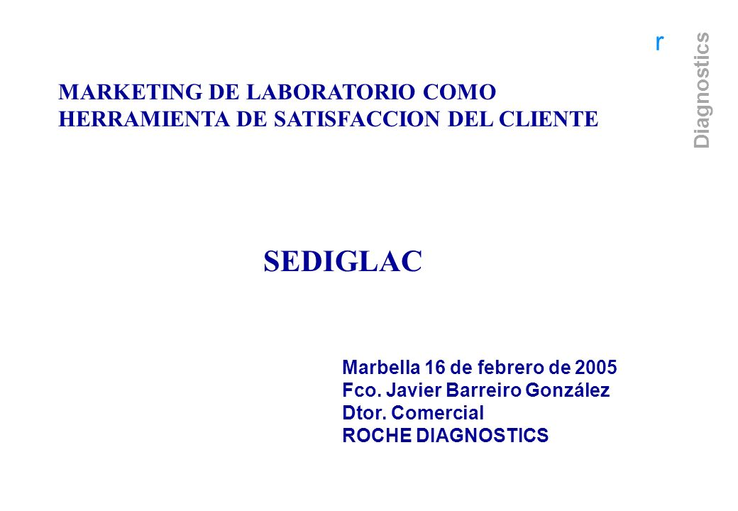 MARKETING DE LABORATORIO COMO HERRAMIENTA DE SATISFACCION DEL CLIENTE