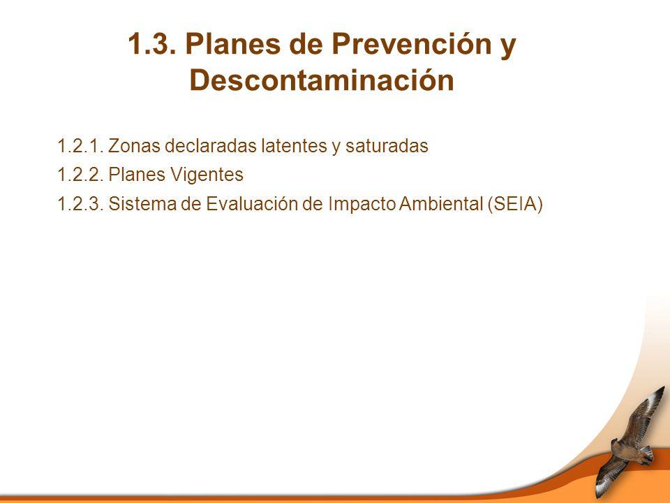 1.3. Planes de Prevención y Descontaminación