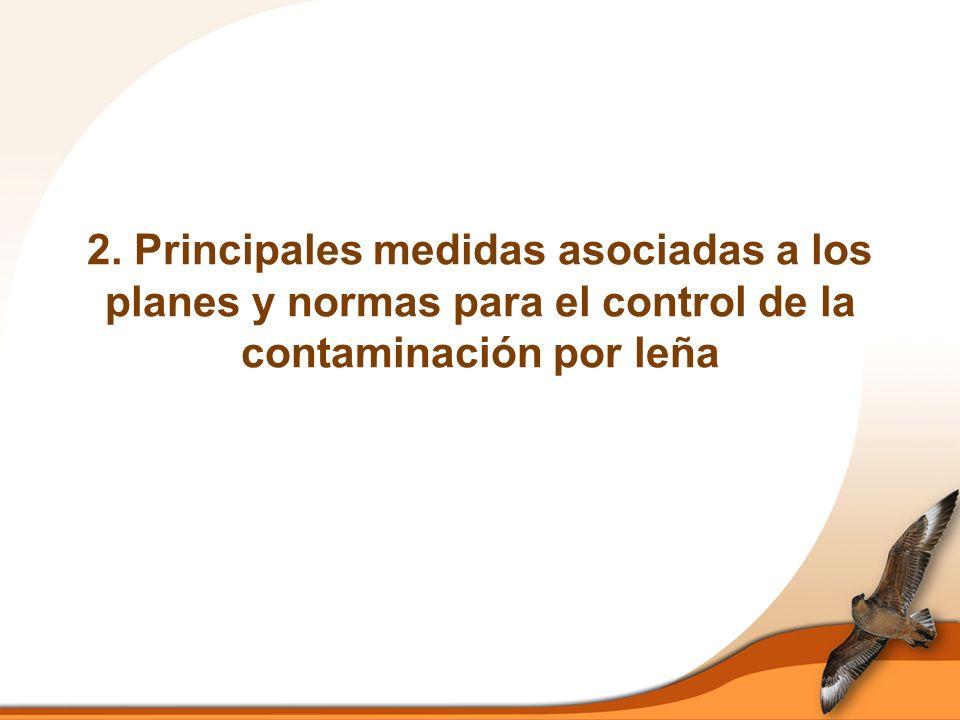 2. Principales medidas asociadas a los planes y normas para el control de la contaminación por leña