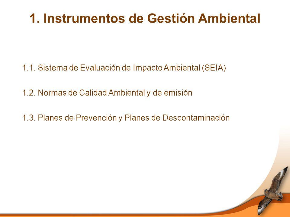 1. Instrumentos de Gestión Ambiental