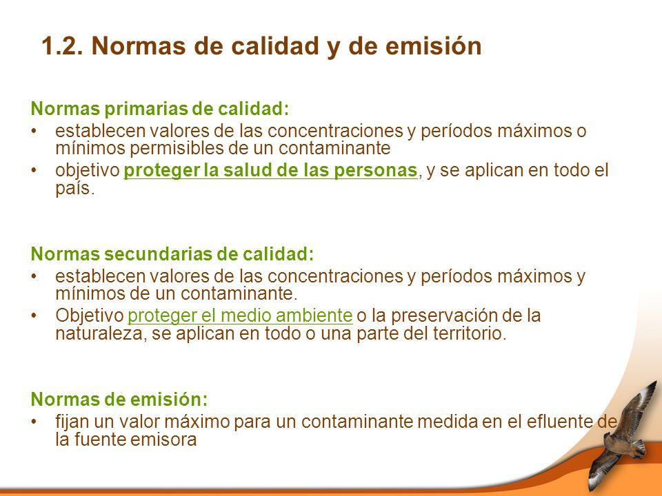 1.2. Normas de calidad y de emisión