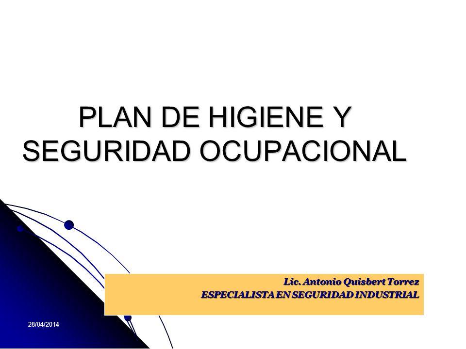 PLAN DE HIGIENE Y SEGURIDAD OCUPACIONAL