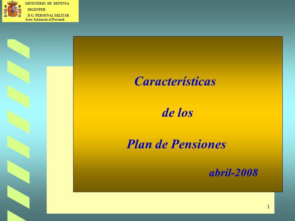 Características de los Plan de Pensiones