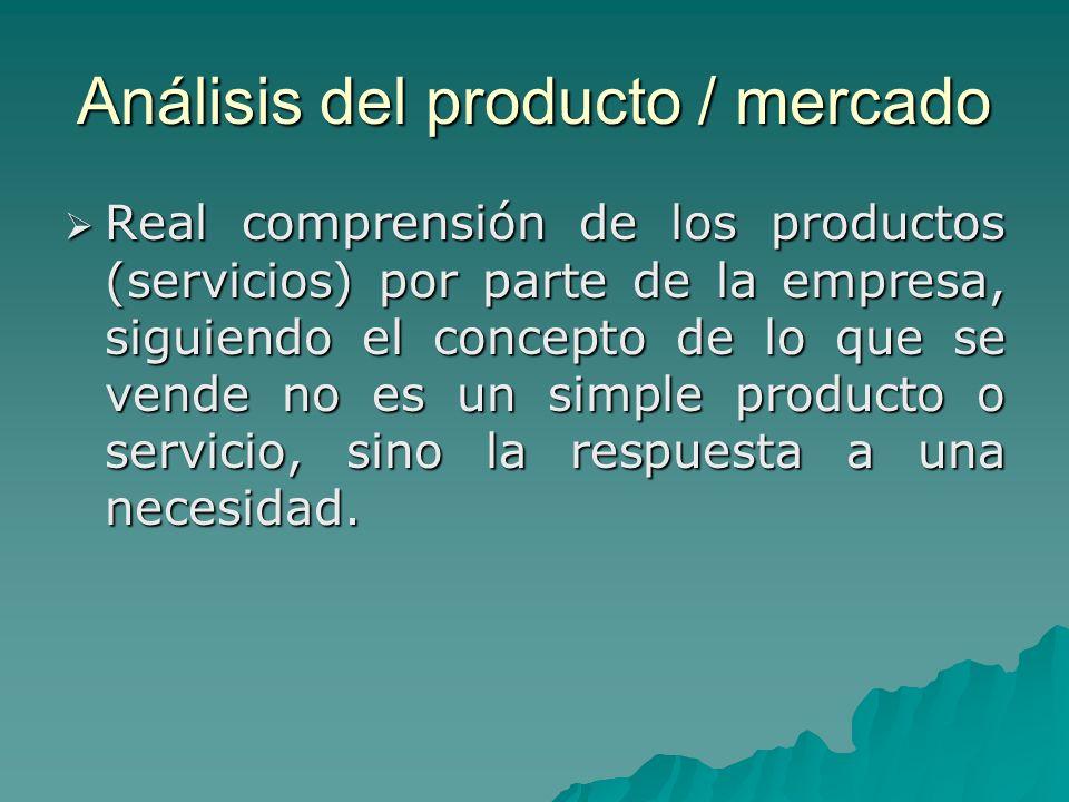 Análisis del producto / mercado