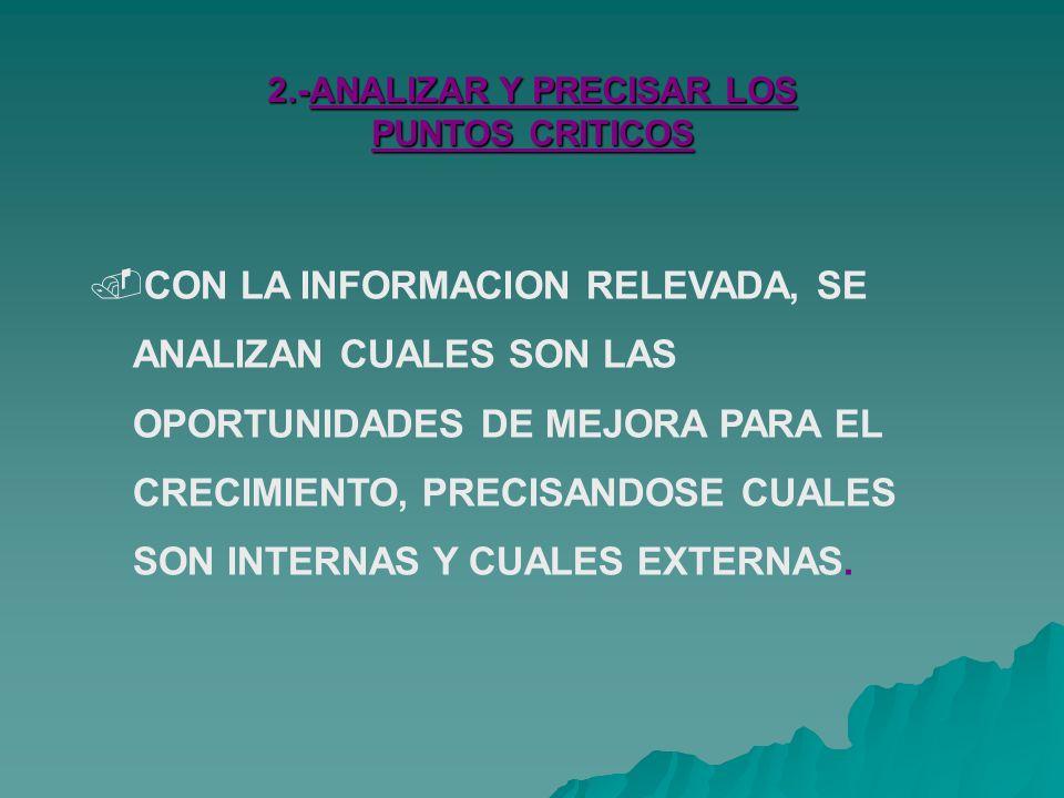 2.-ANALIZAR Y PRECISAR LOS PUNTOS CRITICOS