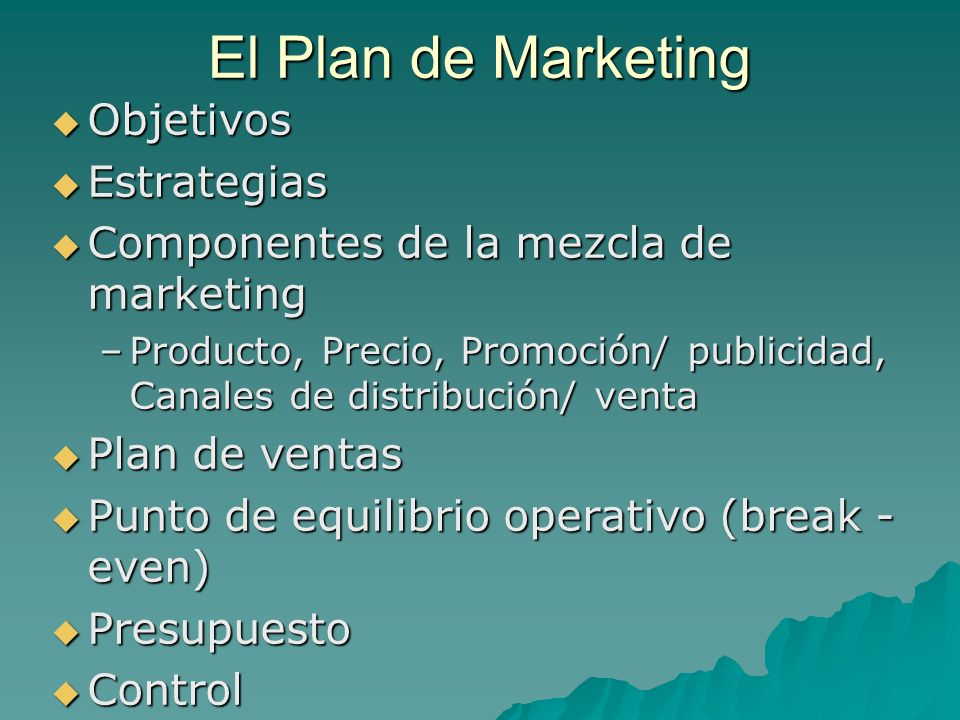 El Plan de Marketing Objetivos Estrategias