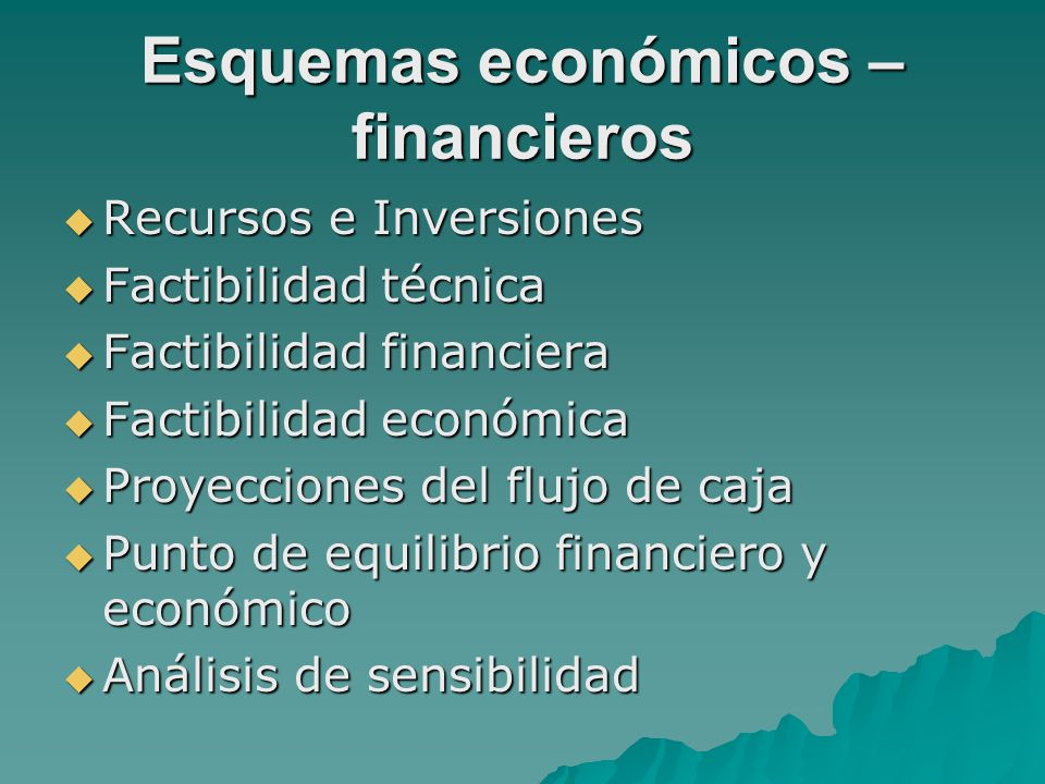 Esquemas económicos – financieros