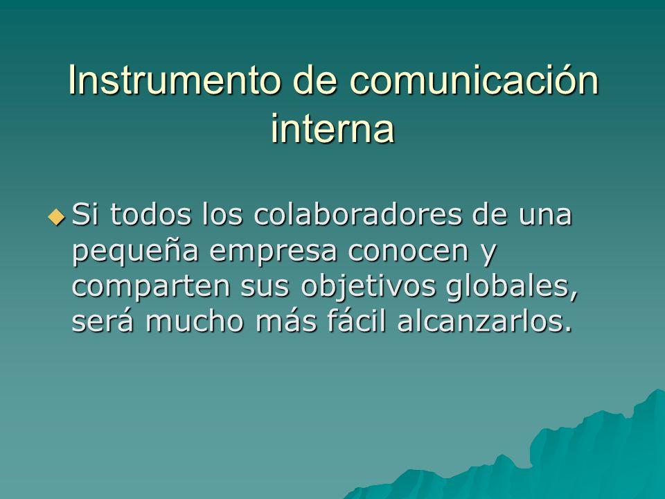 Instrumento de comunicación interna
