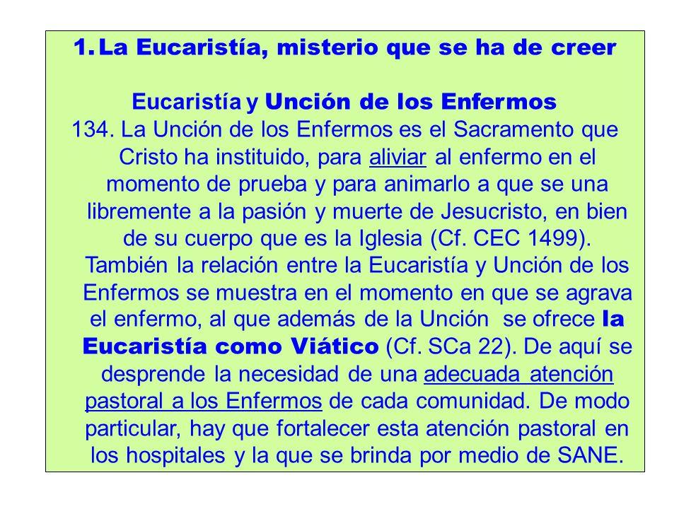 La Eucaristía, misterio que se ha de creer