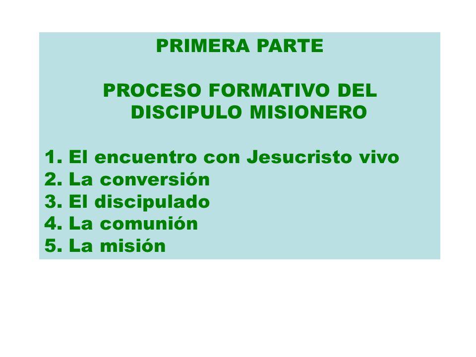 PROCESO FORMATIVO DEL DISCIPULO MISIONERO